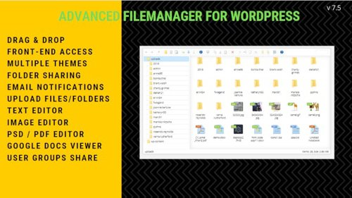 CodeCanyon - File Manager Plugin For Wordpress v7.5.2 - 2640424