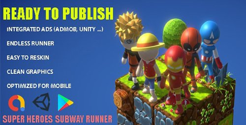 CodeCanyon - SuperHeroes Subway Runner v1.0 - 28468869