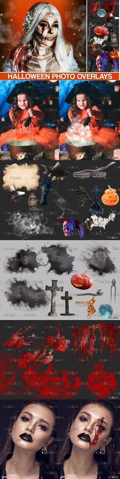 Halloween clipart & Halloween overlays, Photoshop overlay - 905460