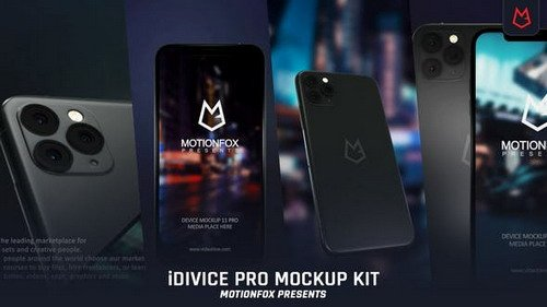 iDevice 11 Pro Mockup Kit - App Promo - Project for After Effects (Videohive)