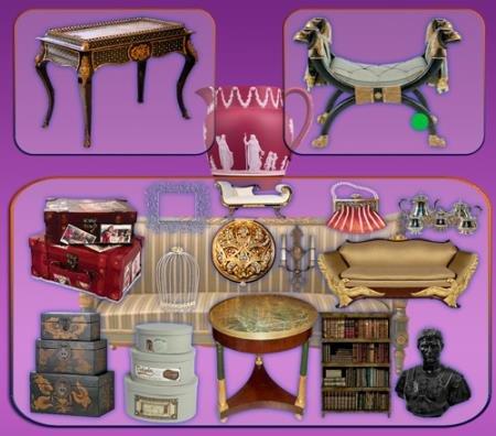 Растровые клипарты - Антикварная мебель