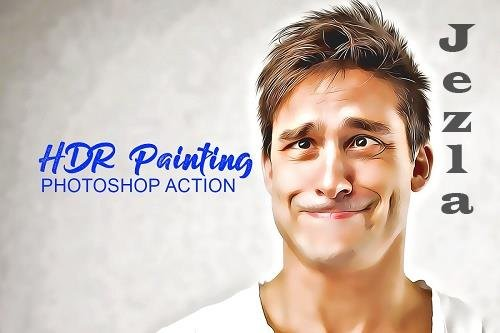 HDR Painting Photoshop Actions 4909711