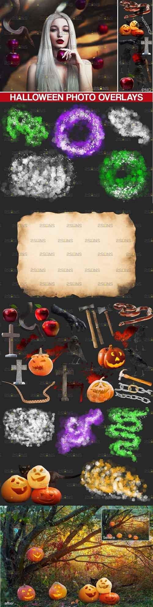Halloween clipart & Halloween overlays, Photoshop overlay - 909524