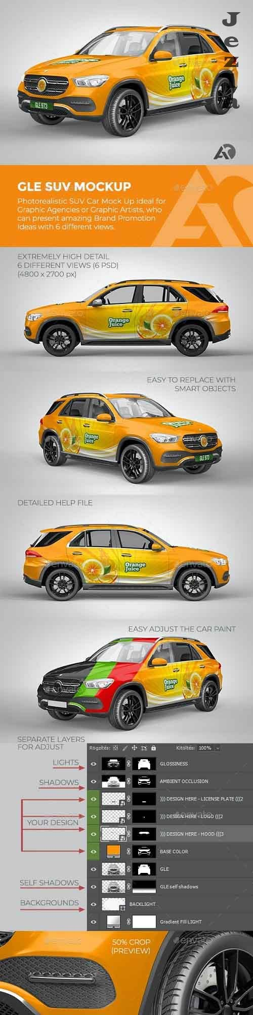 GLE SUV Mock Up for Brand Promotions 27936404