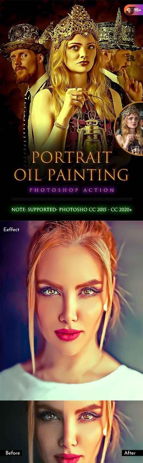 Portrait Oil Painting Action 28368558
