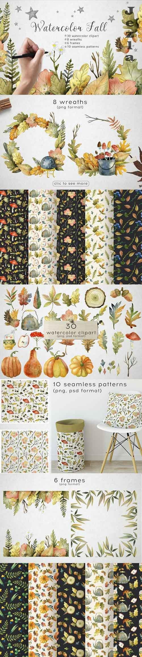 Hello autumn - watercolor collection - 5422253