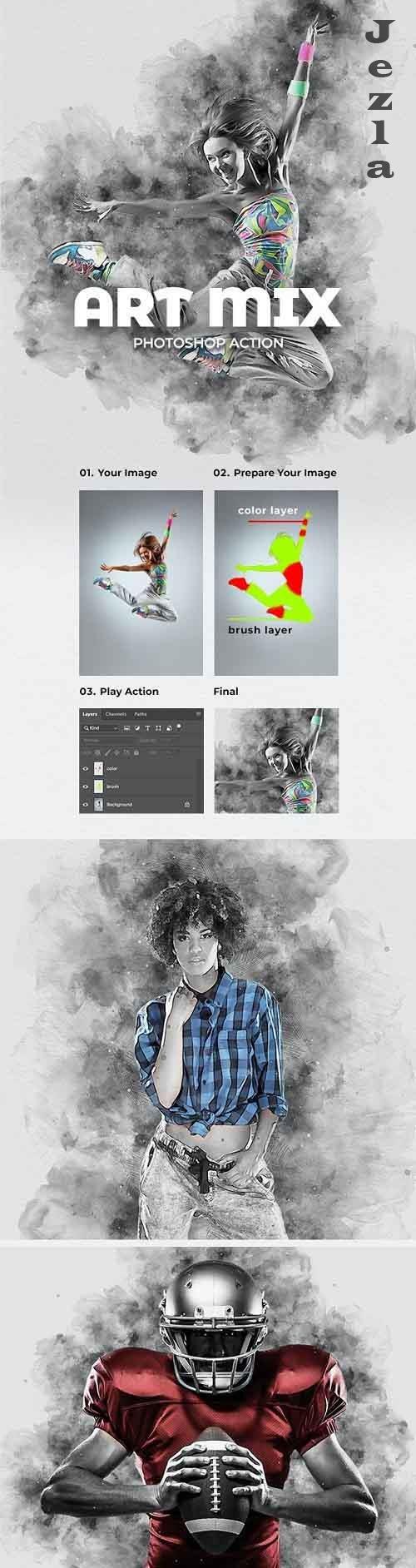 Art Mix Photoshop Action 28178955