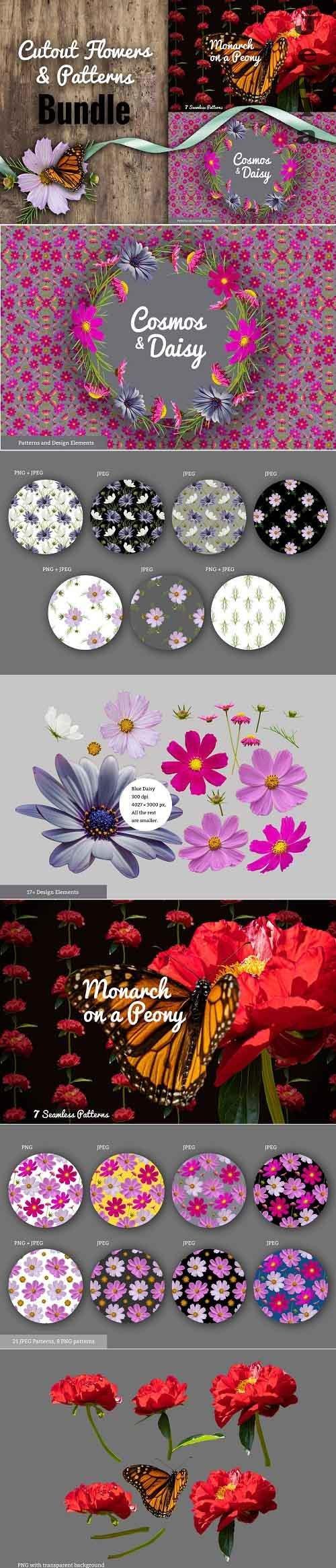 Floral Bundle - Cutout Flowers 5429704