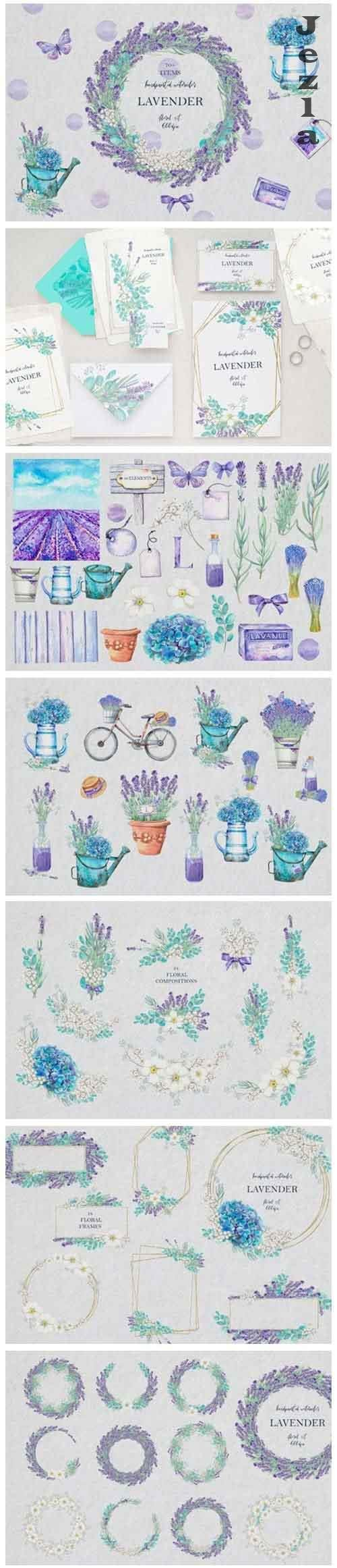 LAVENDER Floral Set - 915002