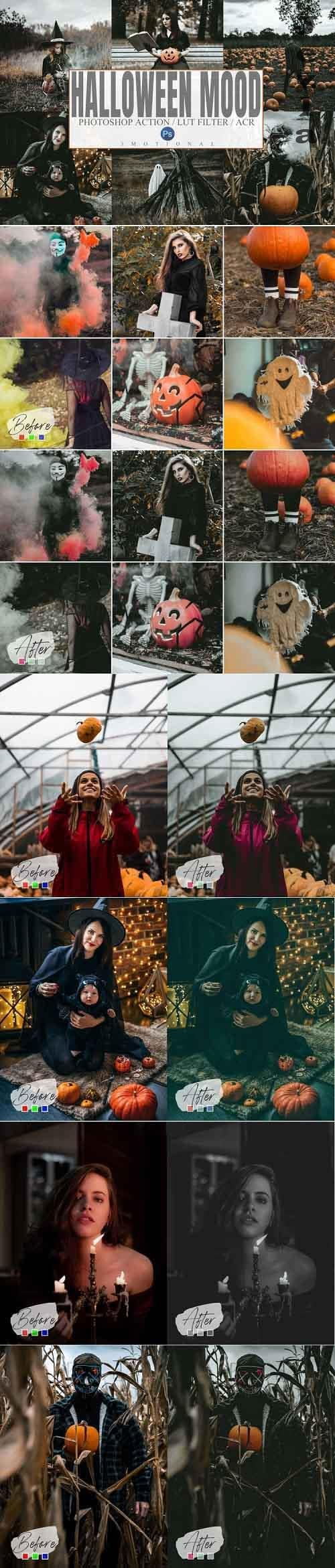 6 Halloween Mood Photoshop Actions, ACR, LUT Presets - 918976