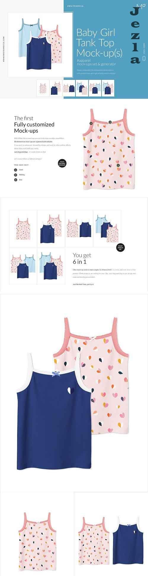 Baby Girl Tank Top Bikini Mock-ups 4543475