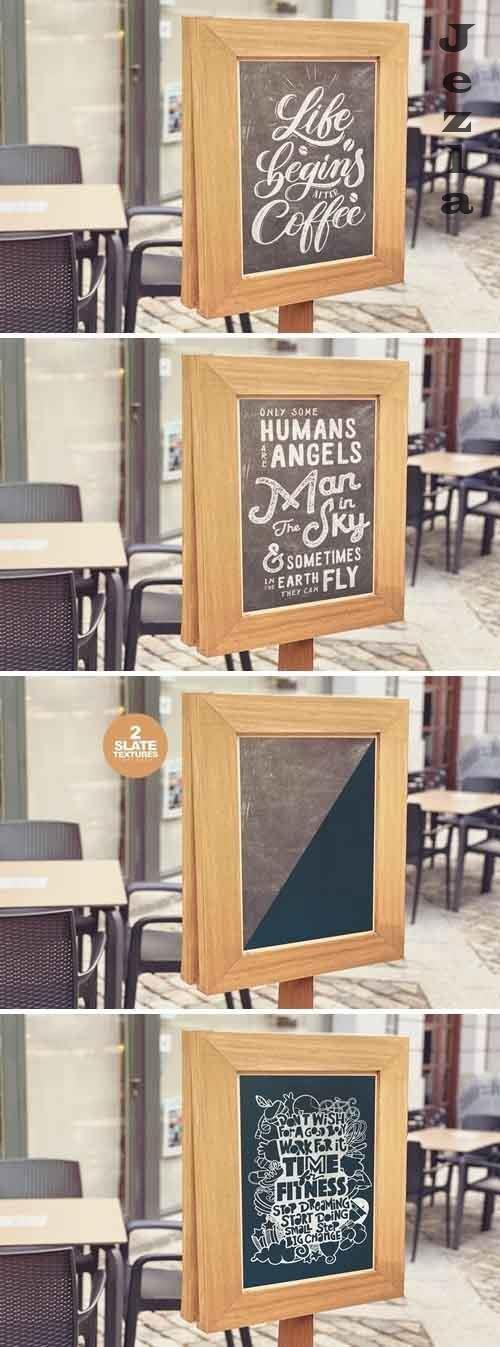 Chalkboard Bar Mockup - 5384249