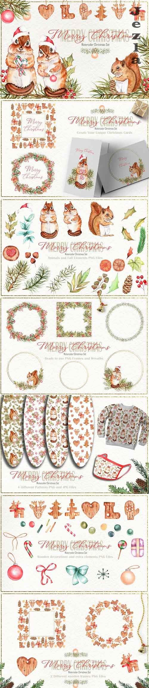 Merry Christmas Watercolor Set - 5436836