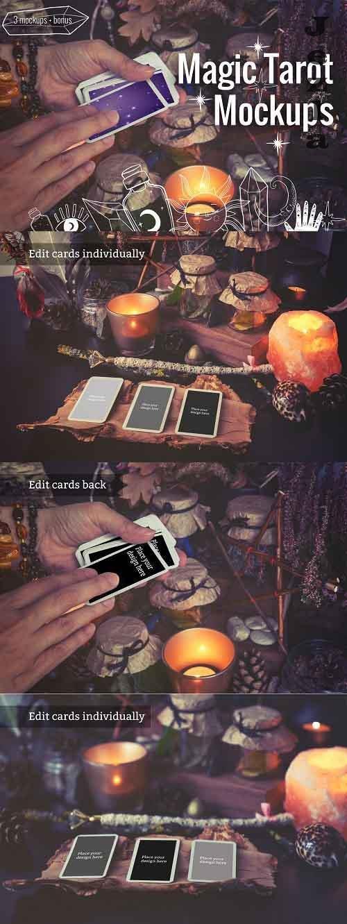 Magic Tarot Cards Mockups - 5382202