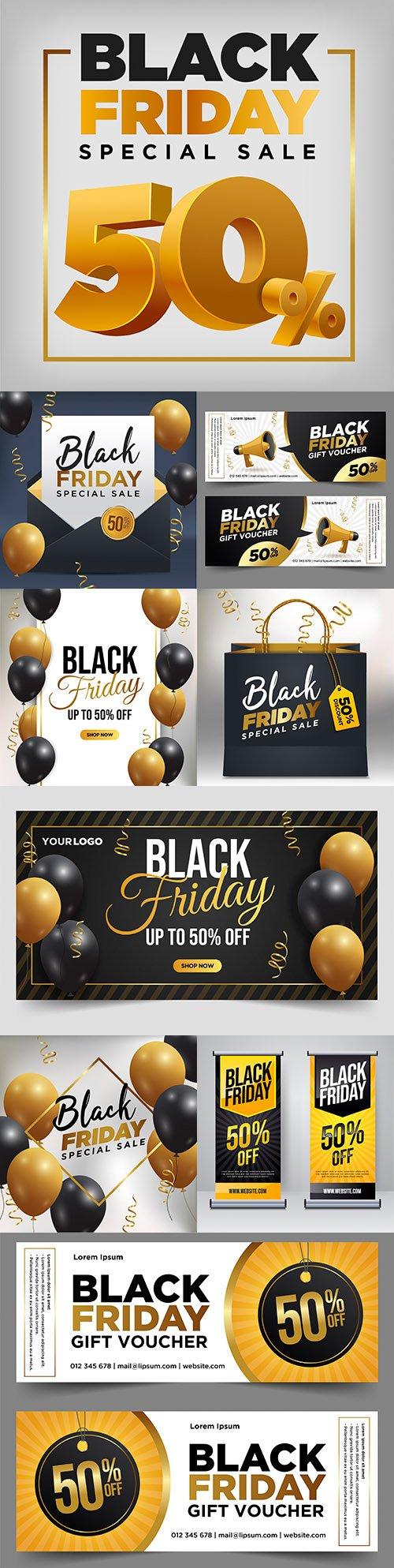 Black Friday and sale special design illustration 38