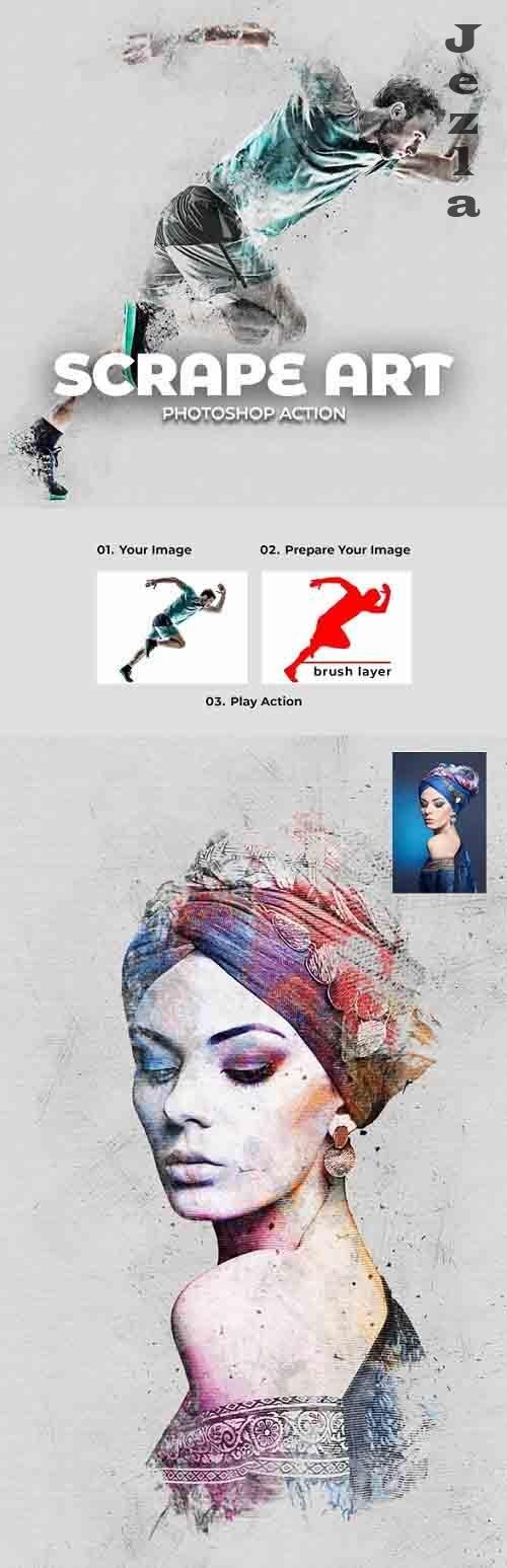 Scrape Art PHSP Action 28218323