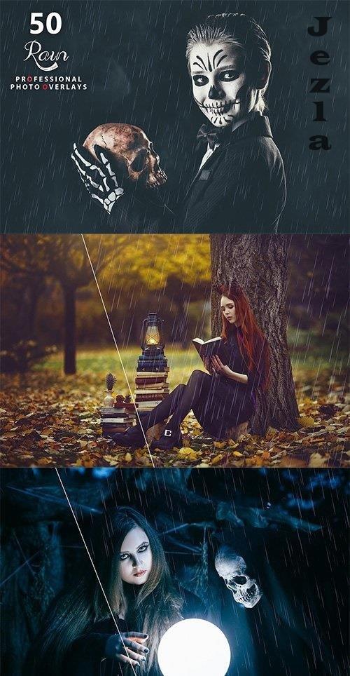 50 Rain Photo Overlays - 5363628