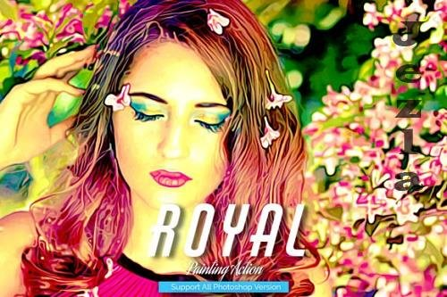Royal Painting Photoshop Action