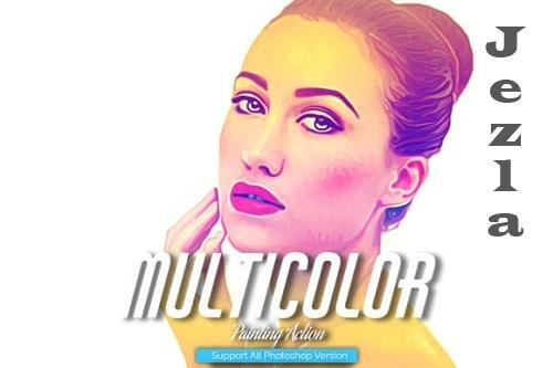 Multi Color Painting Photoshop Action