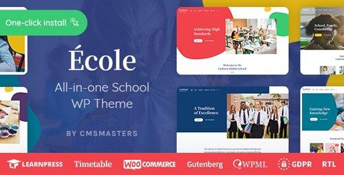 ThemeForest - Ecole v1.0.1 - Education & School WordPress Theme - 25042411