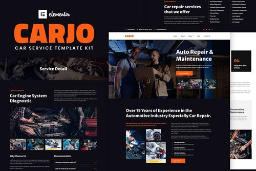 ThemeForest - Carjo v1.0 - Car Services & Repair Elementor Template Kit - 28514273