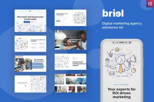 ThemeForest - Briel v1.0 - Digital Marketing Agency Elementor Template Kit - 28615168