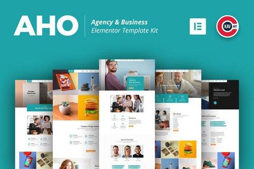 ThemeForest - Aho v1.0 - Agency & Business Elementor Template Kit - 28494976