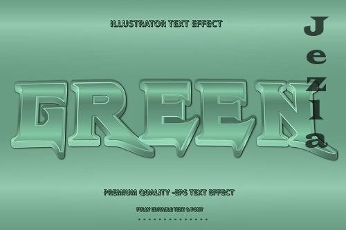 3D Retro Text Style With Green Accen - 5445239