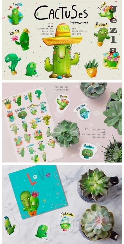 Cactus Illustrations - 5424131