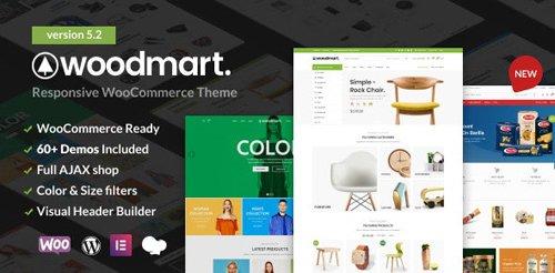 ThemeForest - WoodMart v5.2.0 - Responsive WooCommerce WordPress Theme - 20264492 - NULLED
