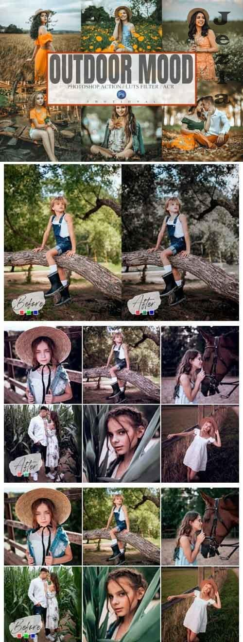 10 Outdoor Mood Photoshop Action