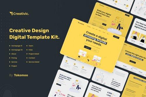 ThemeForest - Creativic v1.0 - Creative Agency Elementor Template Kit - 28312610