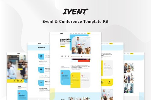 ThemeForest - Ivent v1.0 - Event & Conference Template Kit - 28211094