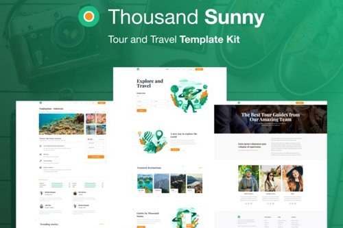 ThemeForest - Thousand Sunny v1.0 - Travel Elementor Kit - 28339977