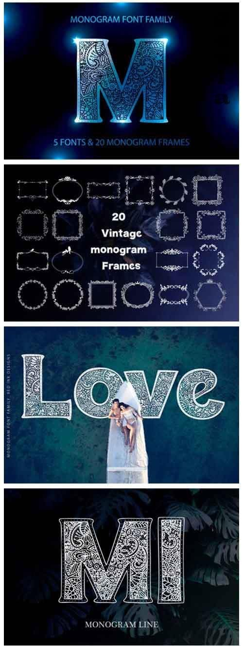 Monogram · 5 fonts · 20 frames - 2295473