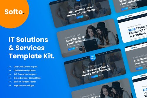 ThemeForest - Softo v1.0 - Template Kit for IT Solutions and Services Company - 28618671
