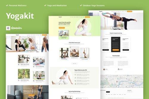 ThemeForest - Yogakit v1.0 - Yoga & Meditation Elementor Template Kit - 28618809