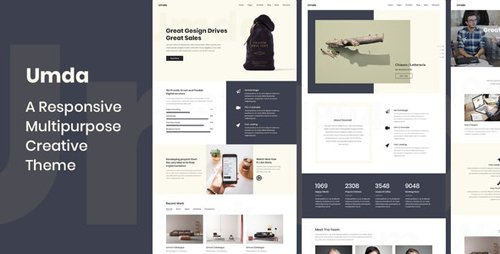 ThemeForest - Umda v1.0.8 - Responsive Multipurpose Creative Theme - 22307323