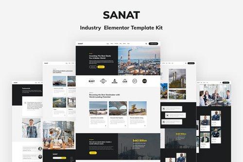 ThemeForest - Sanat v1.0 - Industry Elementor Template Kit - 28705823