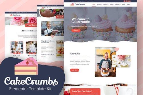 ThemeForest - Cakecrumbs v1.0 - Bakery Elementor Template kit - 28483875