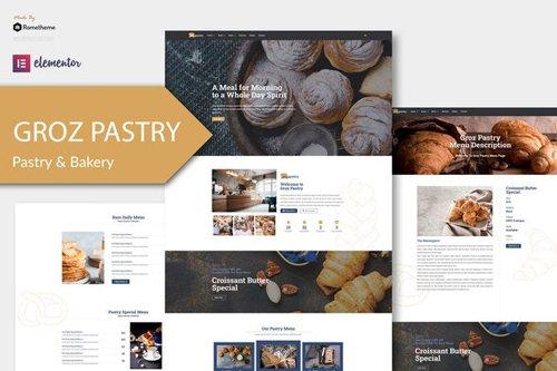 ThemeForest - GrozPastry v1.0 - Bakery Elementor Template Kit - 28726278