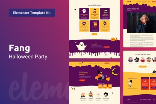 ThemeForest - Fang v1.0 - Halloween Party Template Kit for Elementor - 28759029