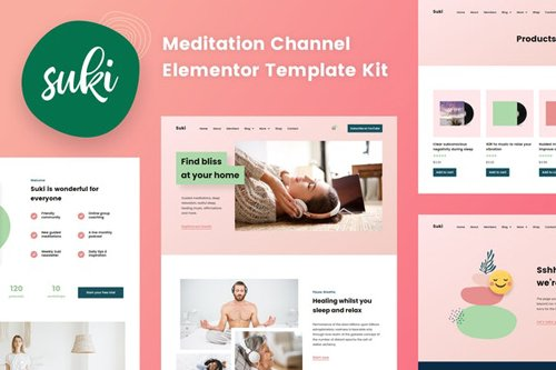 ThemeForest - Suki v1.0 - Meditation Channel Elementor Template Kit - 28255245