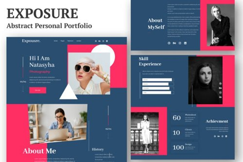 ThemeForest - Exposure v1.0 - Personal Portfolio Elementor Template Kit - 28587756