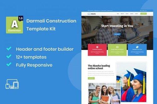 ThemeForest - Abasha v1.0 - Education & Learning Courses Elementor Template Kit - 28147309