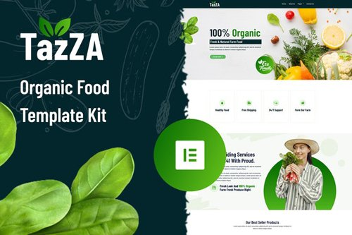 ThemeForest - TazZA v1.0 - Organic Food Elementor Template Kit - 28681750