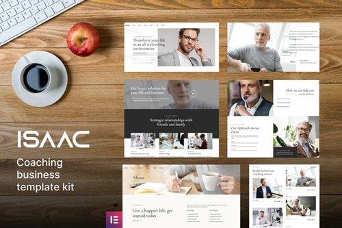 ThemeForest - Isaac v1.0 - Business Coaching Elementor Template Kit (Update: 2 October 20) - 28753773