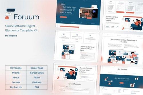 ThemeForest - Foruum v1.0 - SaaS & App Elementor Template Kit - 28726414