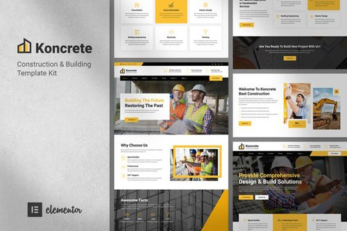 ThemeForest - Koncrete v1.0 - Construction & Building Template Kit - 28747926