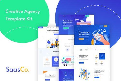 ThemeForest - SassCo v1.0 - App Landing & Startup Elementor Template Kit - 28756632
